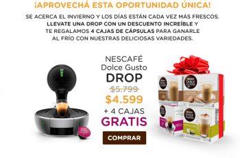 Nescafe Dolce Gusto Promoción DROP + 4 cajas gratis
